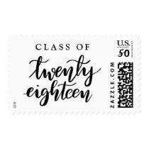 Class Of Twenty Eighteen Handwritten Graduate Postage