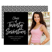Class Of Twenty Seventeen Photo Graduation Card