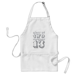 Class of two thousand 13 - Grey Adult Apron