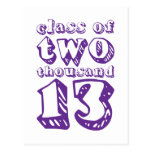 Class of two thousand 13 - Purple Post Cards
