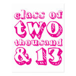 Class of two thousand and 13 - Magenta Postcard