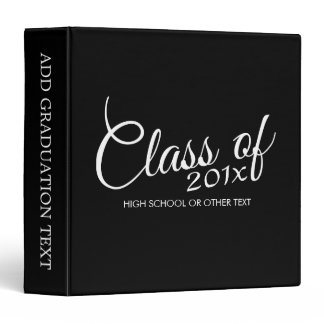 Class of with Custom Year and High School Binder