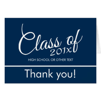 Class of with Custom Year and High School Greeting Card