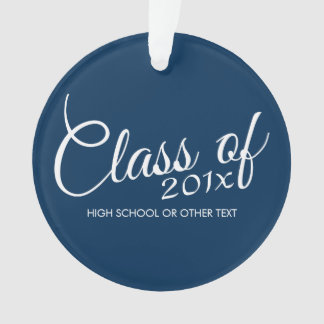 Class of with Custom Year and High School Ornament
