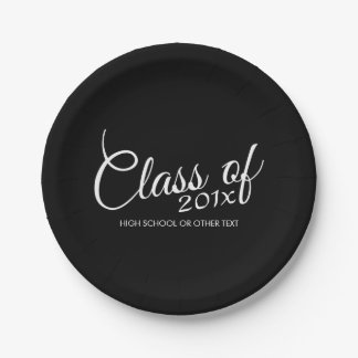 Class of with Custom Year and High School 7 Inch Paper Plate