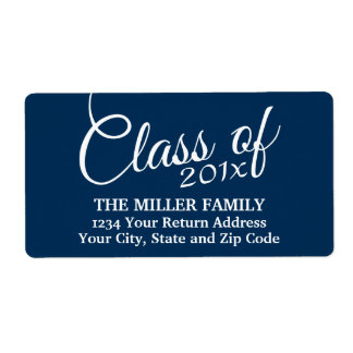 Class of with Custom Year and High School Shipping Label