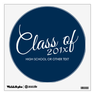 Class of with Custom Year and High School Wall Sticker