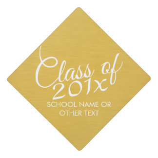 Class of with Custom Year - High School or College Graduation Cap Topper
