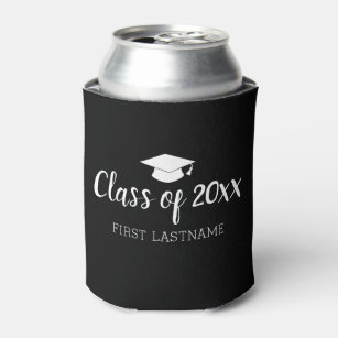 class of year and name black can change color can cooler