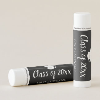 Class of Year and Name - Black Can Change Color Lip Balm