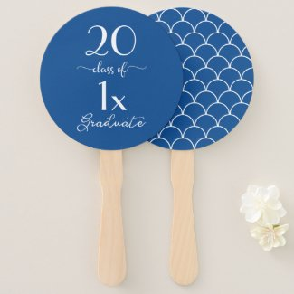 Class Of [YEAR] Graduate Pattern Your School Color Hand Fan