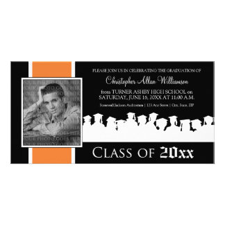 Class of [YEAR] Graduation Announcement: tangerine Card