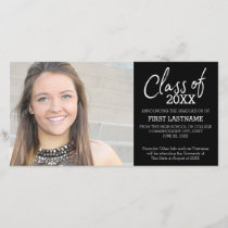 Class of Year Modern Graduation Photo Announcement