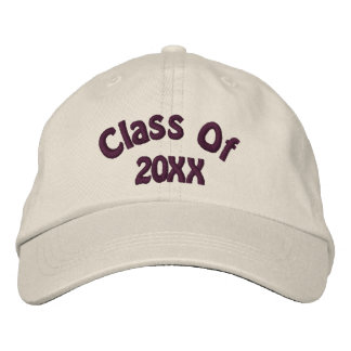 Class Of Your Year Graduation Embroidered Baseball Hat