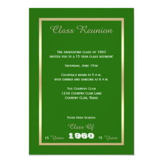 Class Reunion Any Year Green Card