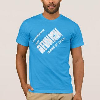 Class Reunion Custom Name Any Year Blue White T-Shirt