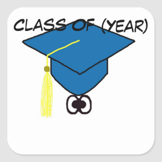 Class Reunion Graduation Cap Stickers, Name Tags
