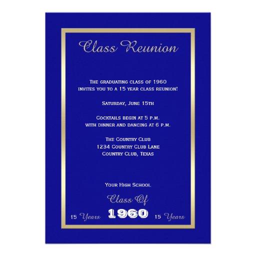 Class Reunion Invites - Any Year Invitation