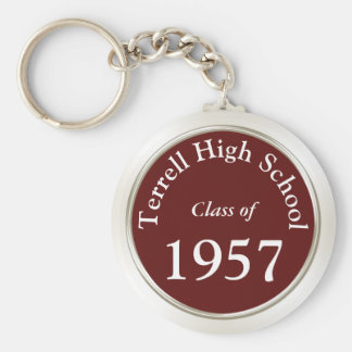 Class Reunion Keychains in Your Colors and Text