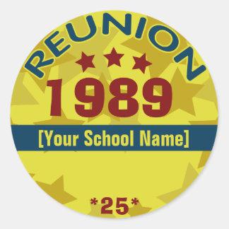 Class Reunion Name Tag Sticker