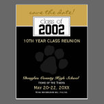 Class Reunion Save-the-Date Announcement (black) Postcard
