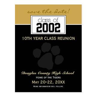 Class Reunion Save-the-Date Announcement (black) Postcard