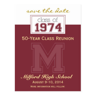 Class Reunion Save-the-Date Announcement custom Post Card