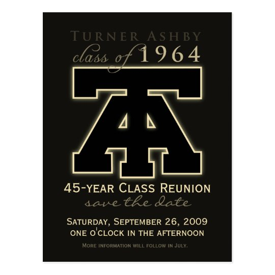 Class Reunion Save-the-Date Announcement Postcard