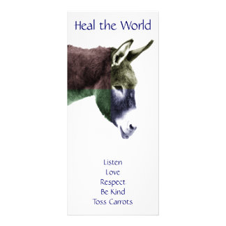 Class Rules Burro Make the World a Better Place Full Color Rack Card