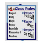 Class Rules: Respect  Print