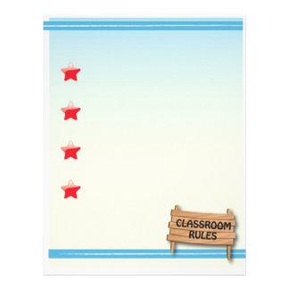 Class Rules Stationary Letterhead