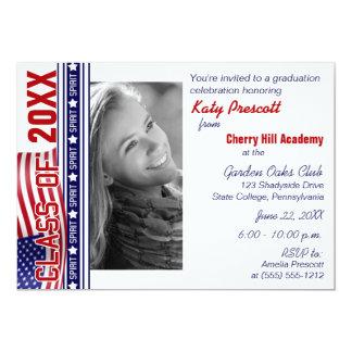 Class Spirit Patriotic Graduation Invitation
