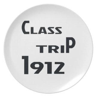Class Trip 1912 Melamine Plate