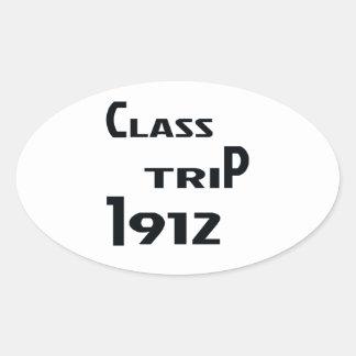 Class Trip 1912 Oval Sticker