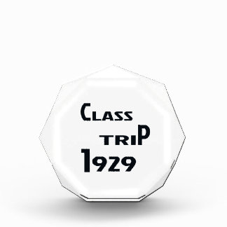 Class Trip 1929 Acrylic Award