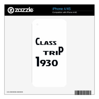 Class Trip 1930 Skin For iPhone 4
