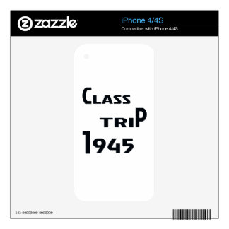 Class Trip 1945 Decal For The iPhone 4