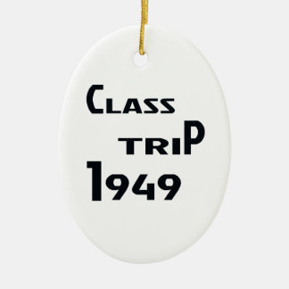 Class Trip 1949 Ceramic Ornament