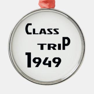 Class Trip 1949 Metal Ornament