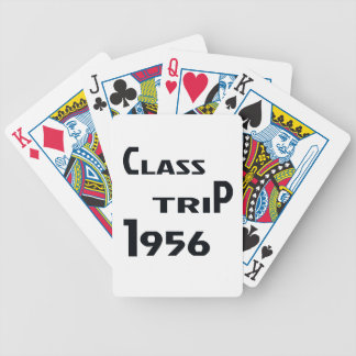 Class Trip 1956 Bicycle Playing Cards