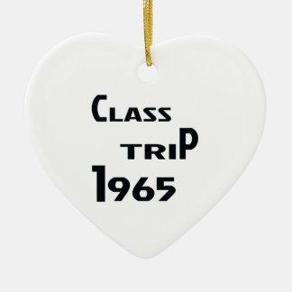 Class Trip 1965 Ceramic Ornament
