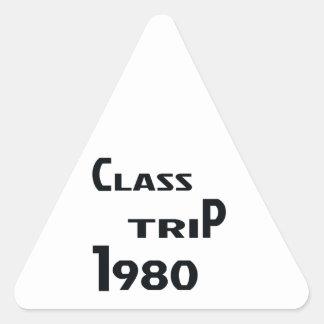 Class Trip 1980 Triangle Sticker