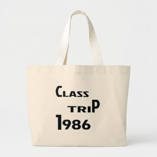 Class Trip 1986 Large Tote Bag