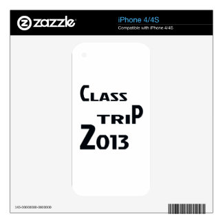 Class Trip 2013 Skins For iPhone 4