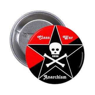 Class War Anarchism Pinback Button