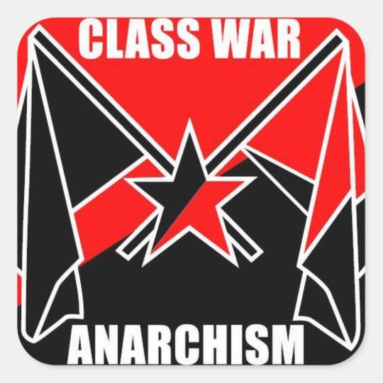 Class War Anarchism Square Sticker