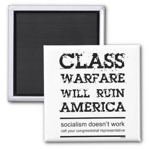 Class Warfare 2 Inch Square Magnet