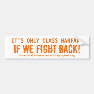 Class Warfare Bumper Sticker