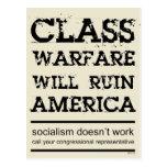 Class Warfare Post Card