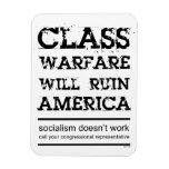 Class Warfare Rectangular Photo Magnet